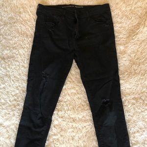 Black skinny ankle jeans!
